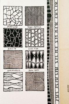 An interesting pattern book by Rebecca Blair Artwork Moleskine Tangle Doodle, Doodles Zentangles, Zen Doodle, Doodle Inspiration, Art Journal Inspiration, Doodle Patterns, Zentangle Patterns, Moleskine, Doodle Art Journals