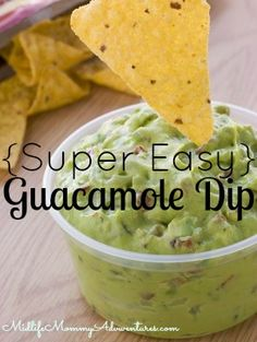 Super Easy Guacamole What You Need: A Couple of Ripe Avacados (cut into small pieces) A Few Tbsp Sour Cream A few Tbsp Salsa Splash of Lemon or Lime Juice, To Prevent Browning Sprig or Two of Cilantro (cut into a chiffonade) (optional) Directions: Mix all Ingredients, Chill Well & Serve.