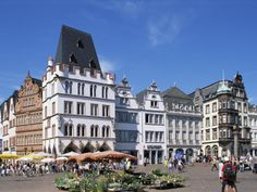 Trier, Germany.  Founded in 15BC by Augustus, it has Roman ruins and classic German architecture.  I drank many a-glass of wine in this square.