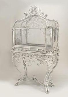victorian terrarium Victorian Terrariums, Style Steampunk, Carnivorous Plants, Gothic House, Faberge Eggs, Victorian Era, Bird Cages, Vintage Antiques, Steam Punk