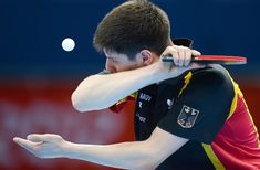 Dimitrij Ovtcharov (Germany) Table tennis in 2012 Olympic Games