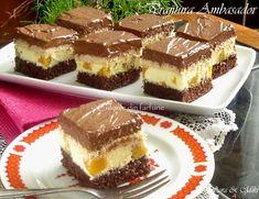 » Prajitura AmbasadorCulorile din Farfurie Sweets Recipes, Just Desserts, Baking Recipes, Cake Recipes, Romanian Desserts, Homemade Cakes, Desert Recipes, Christmas Desserts, Sweet Treats
