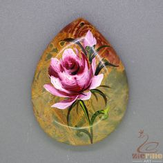 Fashion  Pendant Hand Painted Flower Natural Gemstone   ZL805207 #ZL #Pendant