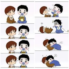 Chanbaek, Kaisoo, Kyungsoo, Kim Jongin, Exo Cartoon, Cartoon Pics, Chibi, Exo Couple, Exo Fan Art