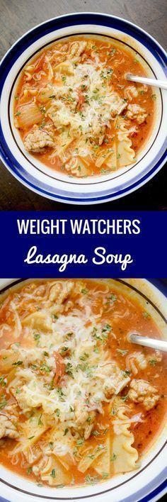 Weight Watchers Lasagna Soup!! - 22 Recipe