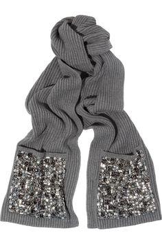 Burberry's Embellished-pocket wool-blend scarf #DIY #mjtrimming