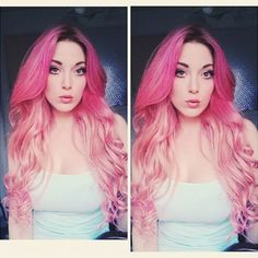 Ombre Delight on @melissabreannexox. She used our Cotton Candy Pink. Mix with Pastelizer towards the ends for the gradation.
