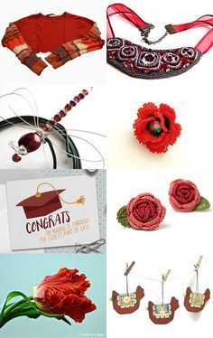 Recycle in red by Efrat Kuvent on Etsy--Pinned with TreasuryPin.com