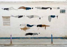 ' Street art by Escif in Valencia, Spain. Graffiti Art, Murals Street Art, Art And Illustration, Mural Painting, Paintings, Land Art, Art Festival, Street Artists, Public Art
