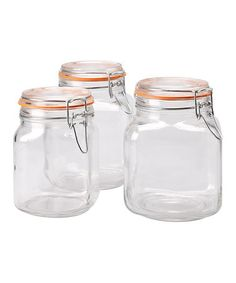 Take a look at this Large Hermetic Jar Set by Global Amici I love how air  tight these rubber seals get and 3 for $20?