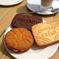 Love these Giant Bourbon, Custard Cream and Ginger Cream biscuits at Costa Coffee