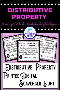 Looking for a fun, engaging activity that gets the kids moving and talking about math? In this resource, students practice using the distributive property and you can choose between a printed activity or digital (self-grading) activity. The printed activity works great in the classroom while the digital activity can be used for distance learning or absent students.