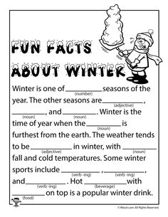 Winter Mad Libs - Snowstorm! – Classroom Jr. | Christmas ...