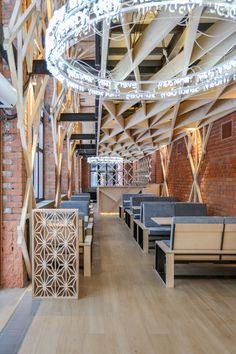 Completed in 2017 in Moskva, Russia. Images by Antonov Dmitry     . Place: An old one-storey building in the historic center of Moscow. After a reconstruction, the ceilings were elevated to 5.8 meters and gothic style...