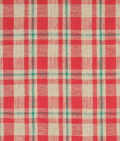 Shop  Red/Green Plaid Burlap Fabric at onlinefabricstore.net for $6.95/ Yard. Best Price & Service.