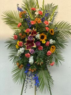 Bold and vibrant mixed flowers