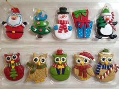 CHOOSE set of 5  owl ,snowman,trees, angels,penguin CHRISTMAS ORNAMENTS L@@K