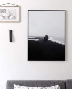 There are new prints in the shop !  The one you see here is 'Black Beach' - cocolapine.bigcartel.com #cocolapine