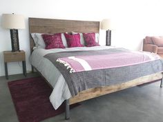 King Bed Frame And Night Stands In Some Nice Old Barn Board This Wood Came