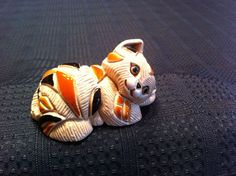 Artesania Rinconada de Rosa Uruguay Pottery Baby Calico Cat Figurine 1985 | eBay