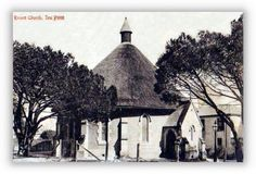 St Johns Church, the Round Church, Sea Point ca. 1910. Built 1846 and demolished 1931.