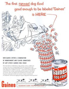 1956 Gaines Dog Food advert.