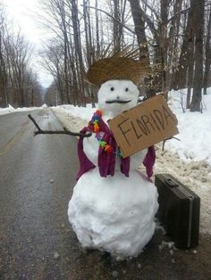 Even the Snowman got tited of all the NH snow this year!!!lol