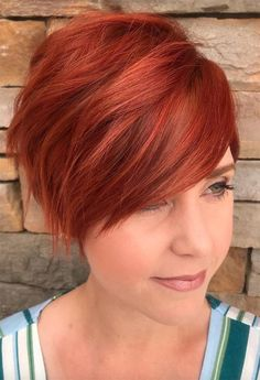 Layered Red Pixie Are you sick and tired of a daytoday simple short red hair Check out our collection to see trendy ways to upgrade it at Red Pixie Haircut, Longer Pixie Haircut, Short Pixie Haircuts, Short Hair Cuts, Straight Hairstyles, Short Hair Styles, Short Pixie Hairstyles, Red Pixie Cuts, Bob Haircuts