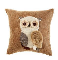 Cute Owl Cushion. Pinned by www.myowlbarn.com