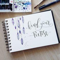 """Mi piace"": 395, commenti: 6 - Sini, 23 (@letteringbysini) su Instagram: ""Day 16 #letteringgoodvibes @mikala.designs @_anjee3 @cie.designs . . . ✏: Tombow fude hard,…"""