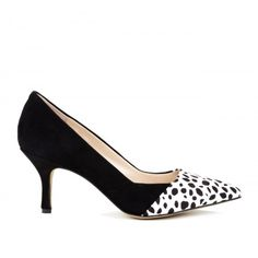 Shani pointed toe pump - Snow Cheetah Black