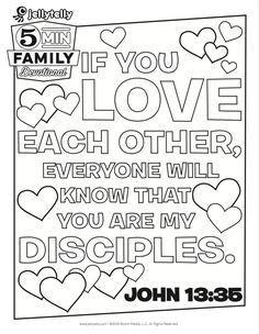 Teach Your Kids What It Means To Love Others With This Free John 1335 Valentine Coloring PagesJesus
