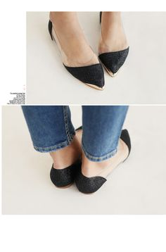 bling bling tinsel flat shoes