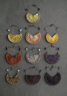 necklaces, pleated silk - tinctory