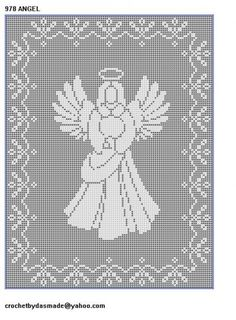 10 Christmas Filet crochet patterns nativity Santa Angels reindeer