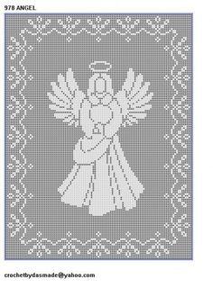 10 Christmas Filet crochet patterns nativity Santa Angels reindeer