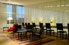 The beautiful Yellow Room Lounge at Sweden Stockholm - Bromma