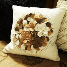 Felt Bouquet Pillow  in Holiday 2012 from Arhaus Furniture on shop.CatalogSpree.com, my personal digital mall.