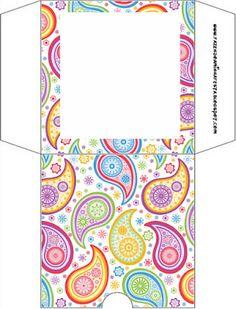 Colorido – Kit Completo com molduras para convites, rótulos para guloseimas, lembrancinhas e imagens!  Fazendo a Nossa Festa