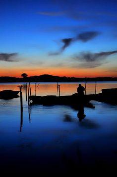 "Saatchi Art Artist Peny Giannakou; Photography, ""Fisherman's Silhouette"" #art"