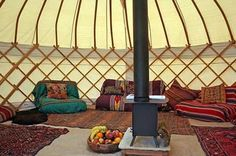 Moon to Moon: Camping season Part 1: Yurts....April in Amsterdam loves it!!!