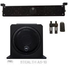 "Wet Sounds Package - Black Stealth 6 Ultra HD Sound Bar w/ Remote and AS-10 10"""" 500 Watt Powered Stealth Subwoofer"