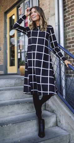 Cute dress for winter.