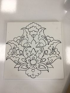 Embroidery Flowers Pattern, Embroidery Works, Hand Embroidery Designs, Islamic Motifs, Islamic Art Pattern, Pattern Drawing, Pattern Art, Disney Drawing Tutorial, Pottery Patterns