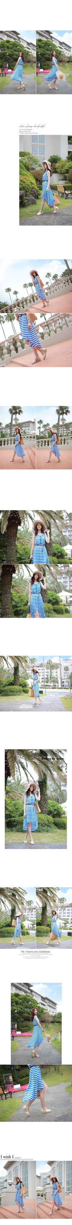 YESSTYLE: CLICK- Sleeveless Stripe Dress