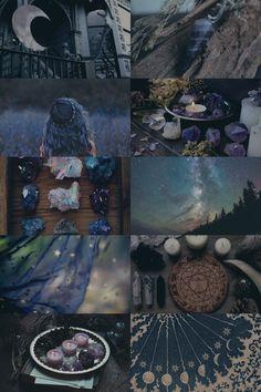 Dark Blue Crystal Witch
