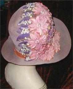 1920s flowered cloche.