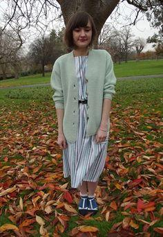 Vintage 1990's Pastel Green Chunky Knit Cardigan £15 http://asos.mp/bristol-saint-vintage