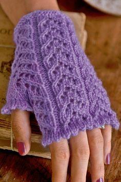 Jane Burns lacy mittens