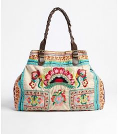 Fossil bag.... fabulous use of embroidery!